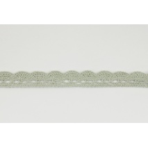 Cotton lace 15mm in a gray-beige color (wave)