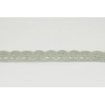 Koronka bawełniana 15mm, szarobeżowa (fala)