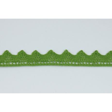 Koronka bawełniana 18mm, zielona