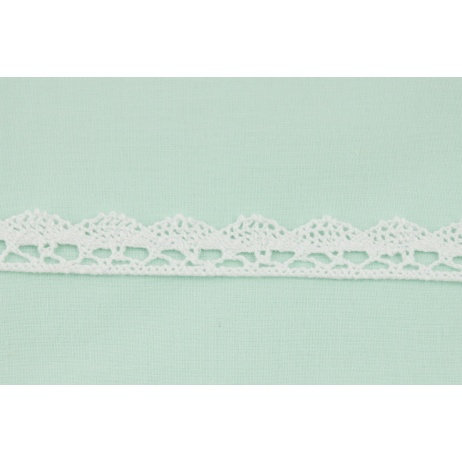 Cotton lace 15mm in a white color (wave)