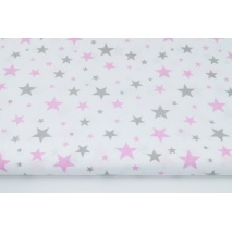 Cotton 100% mix gray and pink stars