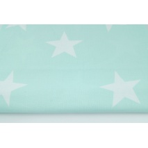 Cotton 100% big stars on a mint background - lighter