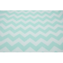 Cotton 100% mint sorbet chevron zigzag II quality