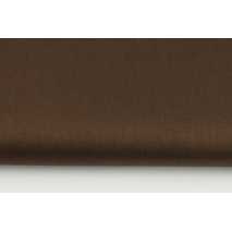 Cotton 100% plain sateen chocolate brown