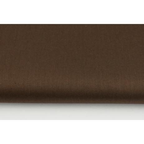 Bawełna 100% satyna czekoladowy brąz