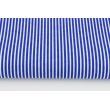 Bawełna 100% chabrowe paski 2x1mm na białym tle