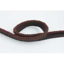 Brown 6mm Cotton Cord with ribbon