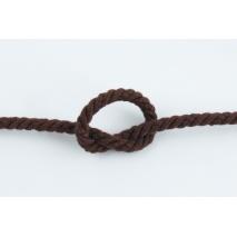Sznurek bawełniany brązowy o średnicy 6mm