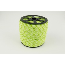 Cotton bias binding green check 5mm pattern