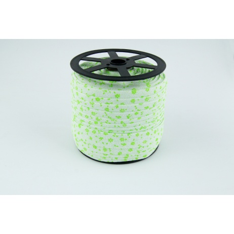 Cotton bias binding bright green meadow on a white background