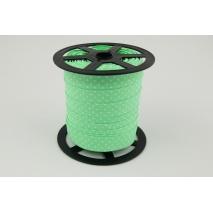 Lamówka bawełniana zielona w kropki