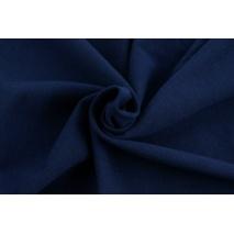 Looped knitwear plain navy blue