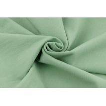 Looped knitwear plain light sage color