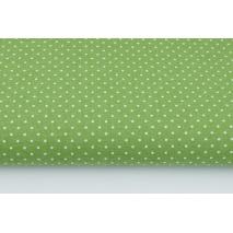 Bawełna kropki 1,5mm na zielonym tle