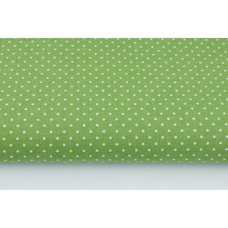 Cotton dots 1,5mm on a green background