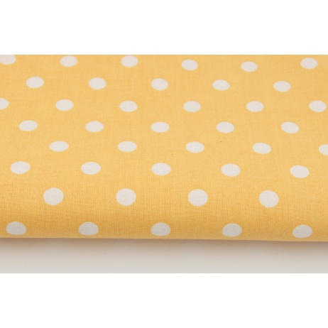 Cotton 100% dots 9mm on a peach background