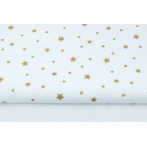 Looped knitwear gold stars on a white background