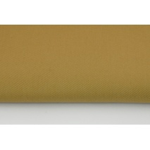 Drill, 100% cotton fabric in a plain dark beige colour 260g/m2
