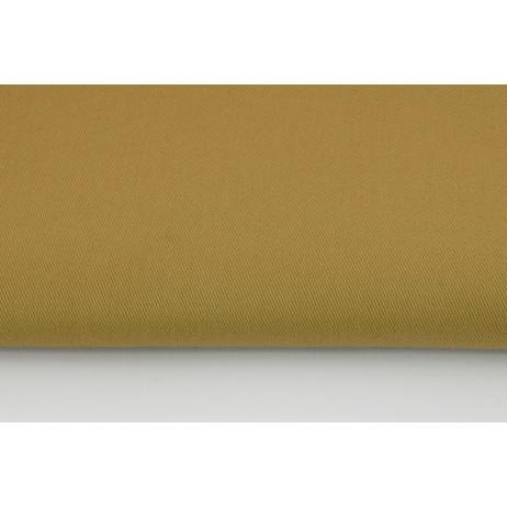 Drill, 100% cotton fabric in a plain dark beige colour 260g/m2