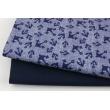 Drelich, bawełna 100%, kotwice na jeansowym tle