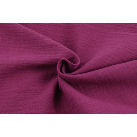 Double gauze 100% cotton plain burgundy
