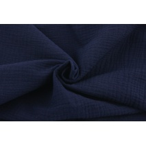 Double gauze 100% cotton plain navy