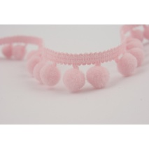 Ribbon pink small pom-poms