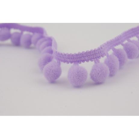 Ribbon lavender small pom-poms