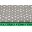 Bawełna 100% gwiazdki 8mm na szarym tle G