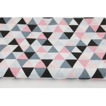 Cotton 100% medium triangles pink-gray-black