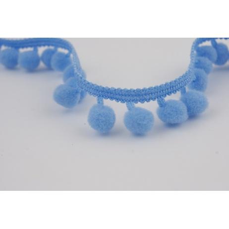 Ribbon blue small pom-poms