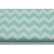 HOME DECOR mint chevron zigzag cotton 100% - II quality