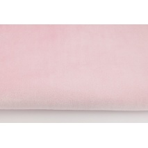 Plain light pink fleece minky