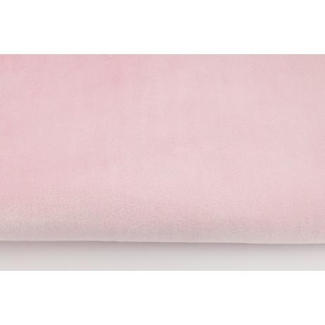 Plain light pink fleece minky