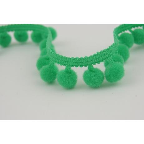 Ribbon green small pom-poms