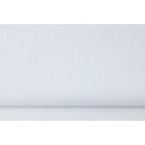 Cotton 100% white trees on a white background (batiste)