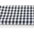 Cotton 100% double-sided dark navy vichy check 1cm 2