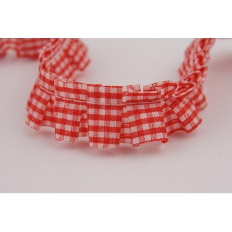 Ribbon frill red check