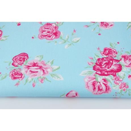 HD różowe kwiaty na niebieskim tle - HOME DECOR