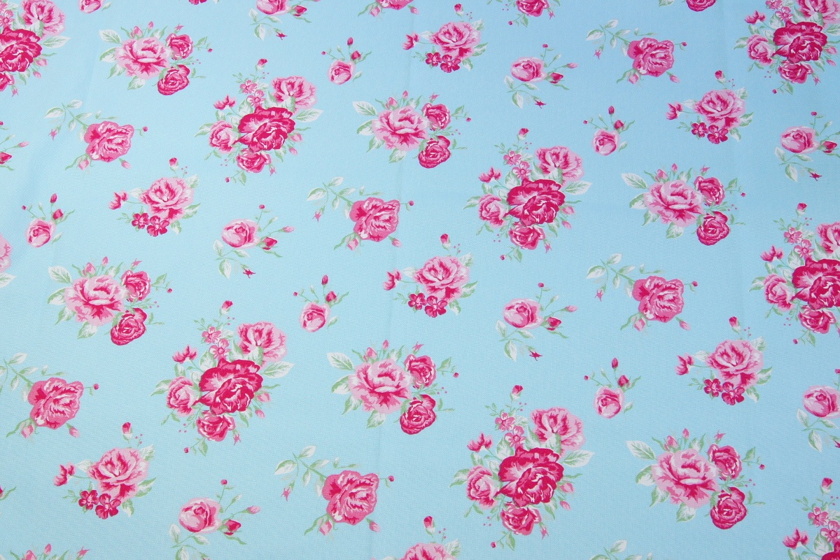 Home Decor Pink Flowers On A Blue Background