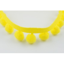 Ribbon yellow pom poms