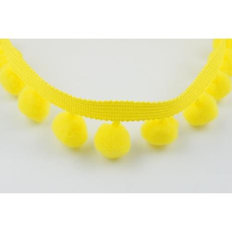 Tasiemka z pomponami żółta, duża