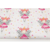 Cotton 100% fairies on a white background with stars