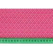 Bawełna 100% mini mozaika geometryczna ciemny róż (batyst)