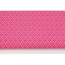 Cotton 100% batiste, mini geometric mosaic dark pink