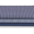 Cotton 100% batiste, double navy check (very soft)