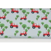 Jersey w traktory na jasnoszarym tle