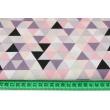 Cotton 100% medium triangles violet-coral-salmon R