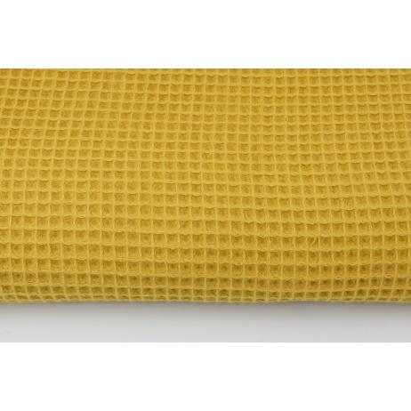Cotton 100%, waffle fabric, plain mustard