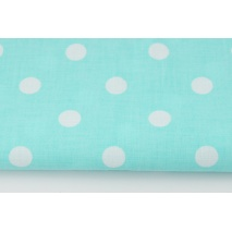 Cotton 100% polka dots 17mm on a turquoise background